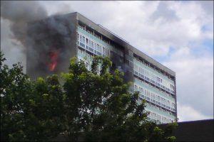Similar tower block fire in 2009.